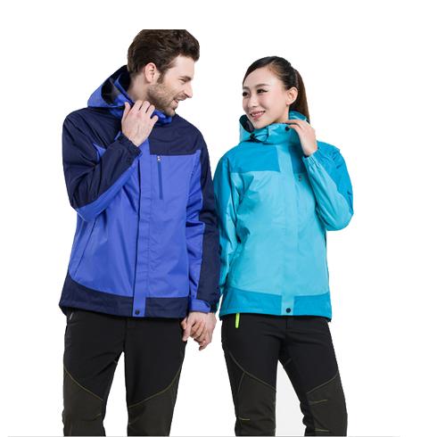 情侣新款户外冲锋衣 防风防水保暖两件套