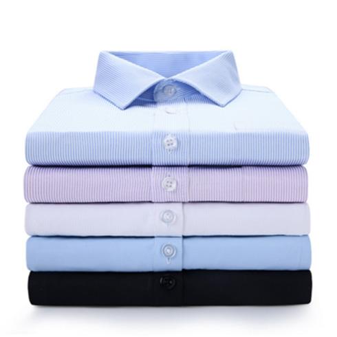 新款职业商务免烫短袖白衬衫 男士企业工装衬衣定制绣LOGO潮