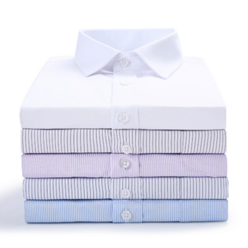 短袖新款 男士免烫商务工装衬衣 男式职业白衬衫