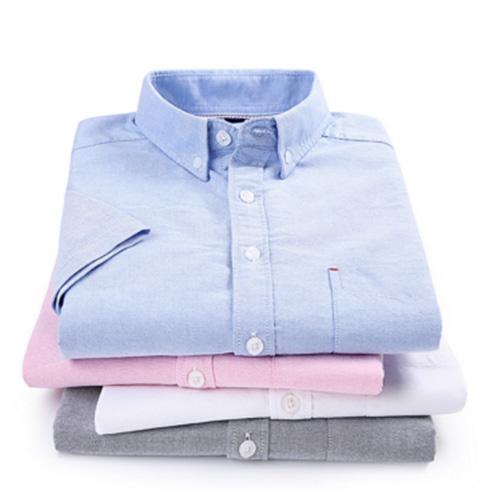 春夏男短袖衬衫全棉韩版休闲翻领男士休闲衬衫定制
