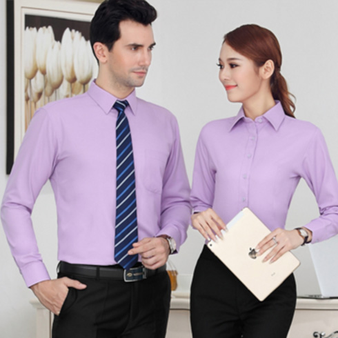 长袖衬衫免烫工作服职业工装白衬衣韩版商务修身正装